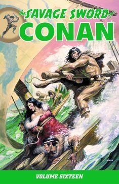 swordandsorcerytales:  The Savage Sword of Conan TPB Vol. 16. Cover art by Earl Norem.