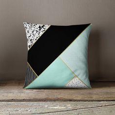 Contemporary Pillow Accent Pillow Accent by wfrancisdesign Cute Pillows, Diy Pillows, Cushions On Sofa, Throw Pillows, Contemporary Pillows, Modern Pillows, Patchwork Pillow, Quilted Pillow, Pillow Crafts