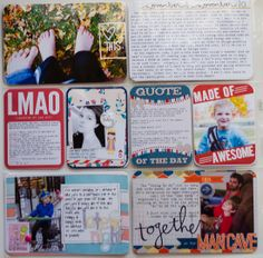 Project Life Week 45 – A Hybrid Layout #projectlife #scrapbook