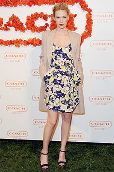 In Bloom: The Best Floral Frocks - January Jones in Sam & Lavi