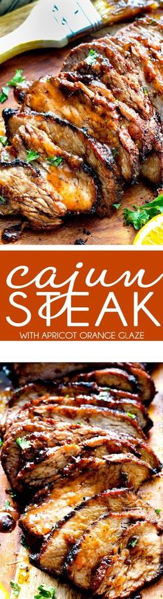 Grilled Cajun Steak with Sweet Orange Apricot Glaze – this Cajun marinade and . Grilled Cajun Steak with Sweet Orange Apricot Glaze – this Cajun marinade and rub is SO crazy flavorful! The steak tur Cajun Steak Recipe, Cajun Recipes, Steak Recipes, Grilling Recipes, Cooking Recipes, Sirloin Recipes, Beef Sirloin, Beef Welington, Kabob Recipes