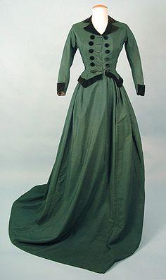 Riding habit, 1868-70's, Karen Augusta Antique Lace & Fashion