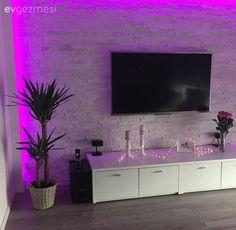 Salon, Taş duvar, Tv ünitesi