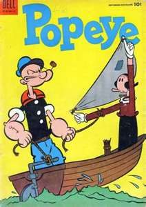 Popeye and olive oyl. Looney Tunes Cartoons, Old Cartoons, Animated Cartoons, Disney Cartoons, Vintage Cartoon, Vintage Comics, Comic Book Covers, Comic Books, Popeye Olive Oyl