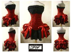 DAY of the DEAD - Under Bust Corset, and Add-A-Bustle Bustle - Custom Size - by LoriAnn Costume Designs. $264.99, via Etsy.