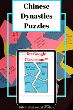 Switch up the type of resources you give your world history or Asian history students on Google Classroom™ with these puzzles. Each of the major dynasties is included giving your students a comprehensive review or assessment. Check out all the details in my TpT store. #gamesintheclassroom #digitalresource #historyresource