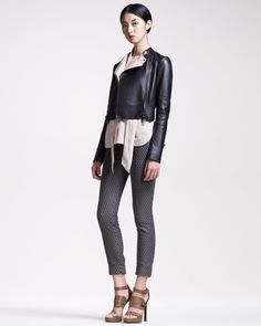 http://ncrni.com/belstaff-cropped-motorcycle-jacket-silk-tie-blouse-slim-jacquard-pants-p-3912.html
