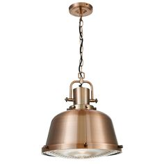 1 light lighthouse style industrial ceiling pendant - copper