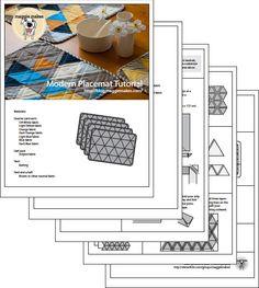 Placemats with mattress ticking binding