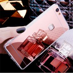 for Huawei P9 Lite Luxury Rose Gold Plating Bling Mirror Case for Huawei P9Lite/G9 Lite VNS-L21 VNS-L22 VNS-L23 Soft Back Cover
