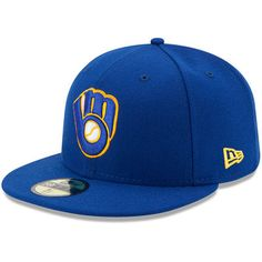 Milwaukee Brewers New Era Youth Authentic Collection On-Field Alternate  59FIFTY Fitted Hat - Royal 009b51152d0e