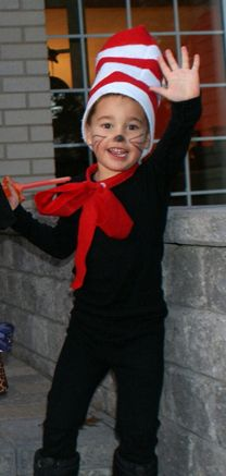 Homemade Halloween - The Cat in the Hat Book Characters Dress Up, Character Dress Up, Literary Characters, Character Costumes, Character Ideas, Hollween Costumes, Dr Seuss Costumes, Costume Ideas, Homemade Halloween
