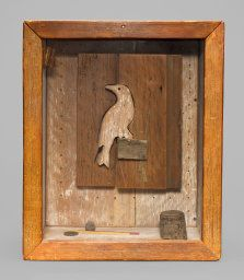 Joseph Cornell (1903-1972) Untitled (Bird) 1949. At first sight very simple, but in reality it has great depth in structure and elements. For thorough description click on the website from which I pinned.
