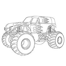 10 Wonderful Monster Truck Coloring Pages For Toddlers ...