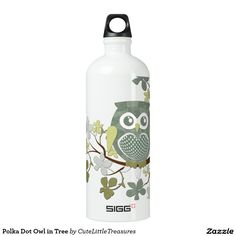 Polka Dot Owl in Tree SIGG Traveler 1.0L Water Bottle