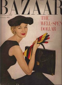 Sunny Harnett photographed by Louse Dahl-Wolfe for the cover of Harper's Bazaar, February 1953.