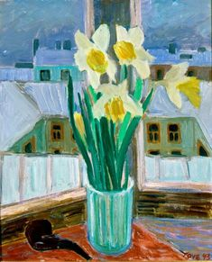 Tove Jansson, Impressionist Paintings, Nordic Design, Conceptual Art, Daffodils, Illustration Art, Illustrations, Modern Art, Fine Art