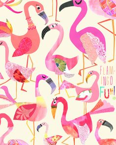 How good would this flamboyant flock look basking on your wall? Add a little flamingo fun to your space! *Fun fact- flamingo chicks are born gray or white & it can take up to three years to reach their true pink potential. This is a limited edition print of only 200.