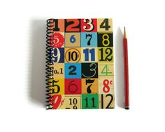 #Notebook Spiral Bound #Numbers 4 x 6 by Ciaffi on Etsy, $ 14.50