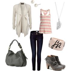 Pink, cream, and grey