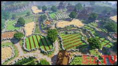 Minecraft Farming Village Remake This is a remake that I did of a default Minecraft plains village and then then built up a massive farmland area around it! All Minecraft Vanilla survival built