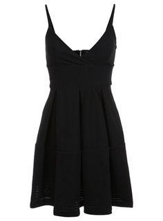Black Texture Babydoll Dress