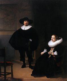 "Rembrandt, ""Jan Pietersz. Bruyningh, and His Wife Hillegont Pietersdr. Moutmaker"" 1633, Oil on canvas, 131 cm x 107 cm, in Isabella Stewart Gardner Museum, Boston"