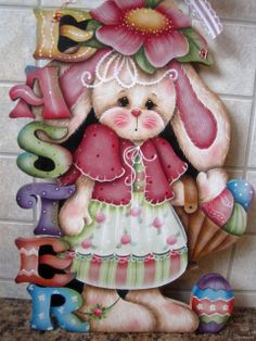 """HP """"Easter"""" Bunny Wall Hanging"""