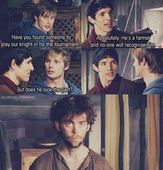 Arthur and Merlin ~ HA love this episode!!!!! But then again I love like all the episodes.