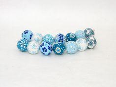 Polymer Clay Perlen - Himmel Perlen Polymer clay, Design, Fimo - ein Designerstück von filigran-Design bei DaWanda