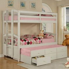 Bunk Bed w/ Trundle Bed and Storage. I really like this.