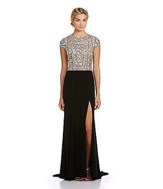 Terani Couture BeadedBodice Gown #Dillards work holiday party? LOVE this dress - just not the price
