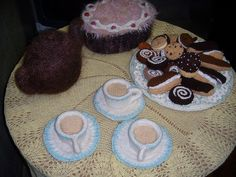 Knitted cups of tea