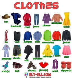 Clothes   Free resources for English learners and teachers