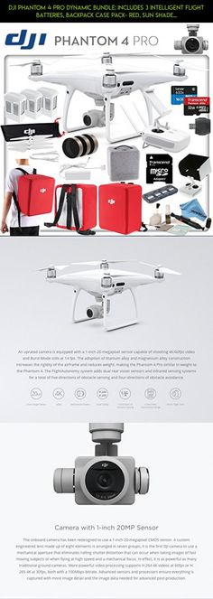 DJI Phantom 4 Pro Dynamic Bundle: Includes 3 Intelligent Flight Batteries, Backpack Case Pack- Red, Sun Shade, Cinema Series Filter Kit, High Speed 32GB MicroSD Card and more... #phantom #products #drone #gadgets #fpv #pro #sunshade #technology #plans #shopping #dji #racing #4 #kit #parts #camera #tech