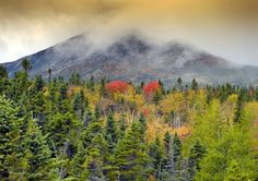 Baxter State Park Maine during autumn  11x14 inch by BrendanReals