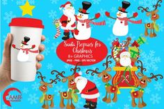FREE Santa Prepares For Christmas Graphics By TheHungryJPEG