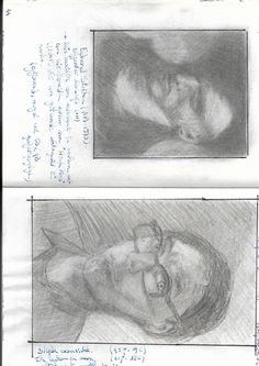 Drawing at the right side of the brain - self portrait after reading the book (first attempt)