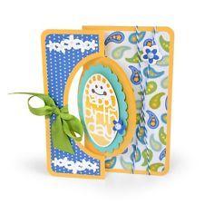 Sizzix Framelits Die Set - 660715 Scallop Oval Flip-its Card Stephanie Barnard