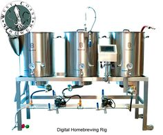 Digital Homebrewing System and Brew Rig   #homebrew #homebrewing #homebrewer  http://www.westcoastbrewer.com/BrewersBlog/home-brewing-equipment/new-digital-touch-screen-homebrewing-system-from-more-beer/