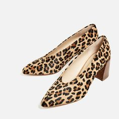 Image 2 of PRINTED LEATHER HIGH HEEL SHOES from Zara