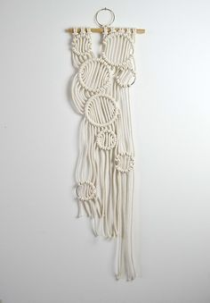Macrame wall hanging decor idea by Amy Zwikel Studio. Perfect unique macrame piece.