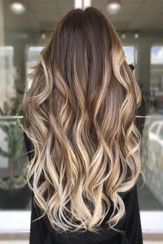 Blonde Ombre The brown to blonde ombre creates a beautiful shade of golden dark blonde as it transitions from dark to light - Ombre Hair Blond Ombre, Dark Blonde Hair Color, Brown Blonde Hair, Light Brown Hair, Hair Color Balayage, Balayage Brunette To Blonde, Golden Blonde, Dark Brown To Blonde Balayage, Dark To Light Ombre