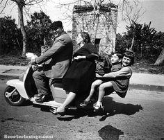 Family cruise on the Vespa! #vespa #vintage LamLoad.jpg