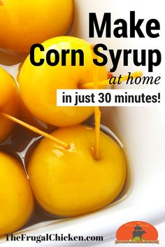 Why bother with store-bought when you can make non-GMO corn syrup at home in just 30 minutes? Tastes much better & healthier for you! (Baking Tips Corn Syrup) Real Food Recipes, Cooking Recipes, Bar Recipes, Yummy Food, How To Make Corn, Food Substitutions, Sweet Sauce, Mellow Yellow, Corn Syrup