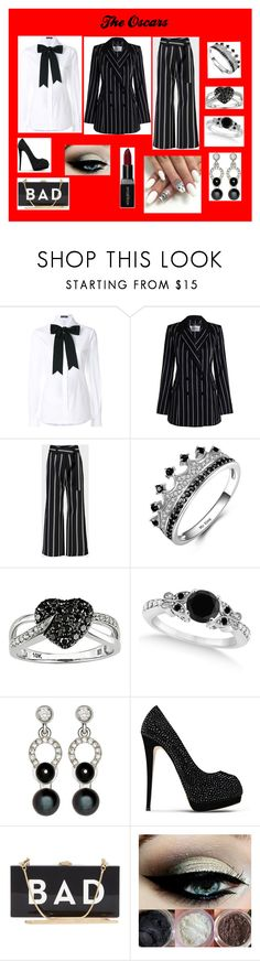 """""""oscars (black and white)"""" by the-game-is-something ❤ liked on Polyvore featuring Dolce&Gabbana, Zimmermann, Taylor, Ice, Allurez, Nathalie Jean, Giuseppe Zanotti, Milly and Smashbox"""