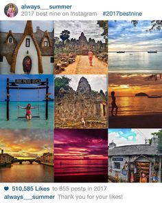 It's easy to get lost in your own little world on Instagram, but don't forget to give your fans what they want every now and then. Here you can use to instantly see your top nine Instagram posts of 2017 in order of popularity. Top 10 Instagram, Top Nine, Best Nine, Summer Travel, Forget, Fans, Lost, World, Beach