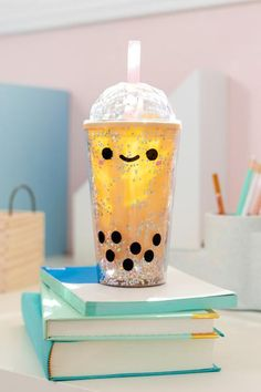 What are you doing while quarantining at home? We're drinking boba and reading books for a nice relaxing time! Bubble Tea, Kawaii Gifts, Kawaii Things, Accessoires Iphone, Reusable Cup, Kawaii Plush, Kawaii Room, Cute Room Decor, Tumbler