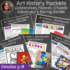 First grade math bundle pinterest math common cores and activities these art history worksheet packet and art history activities introduce students to the artists picasso fandeluxe Gallery
