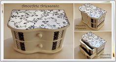 Cômoda perfeita para guardar seus acessórios em grande estilo madeira http://www.amocarte.blogspot.com.br/